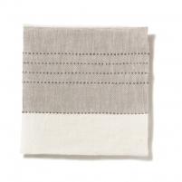 Broad Stripe Top Stitch Linen Dove Grey