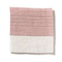 Broad Stripe Top Stitch Linen Tea Rose