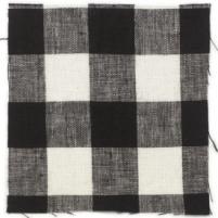Check linen Oilcloth Black