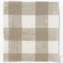 Check Linen Oilcloth Natural