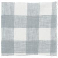 Check Linen Oilcloth Parma Grey