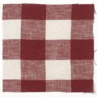 Check Linen Oilcloth Red