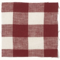 Check Linen Red