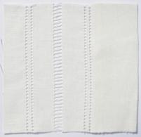 Drawn Thread Fabric Hem Ladder Stitch Edge
