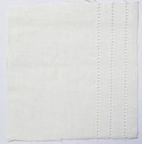 Drawn Thread Fabric Hem Stitch Rows