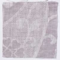 Large Paisley Linen Rose Taupe