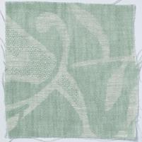 Large Paisley Linen Sea Green