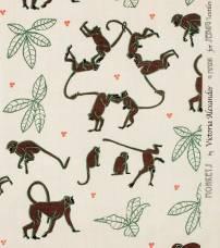 Monkeys Brown Green Natural