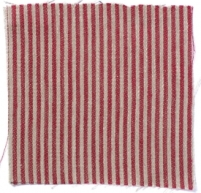 Narrow Stripe Linen Crimson