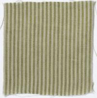Narrow Stripe Linen Fern Green