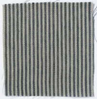 Narrow Stripe Linen Prussian Blue