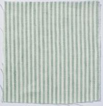 Narrow Stripe Linen Sea Green