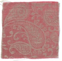 Small Paisley Linen Coral