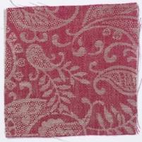 Small Paisley Linen Crimson