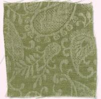 Small Paisley Linen Fern