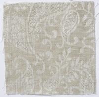 Small Paisley Linen Natural