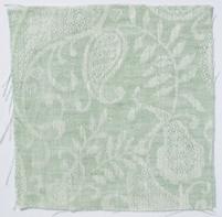 Small Paisley Linen Sea Green