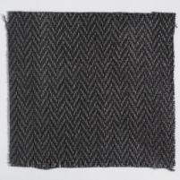 Upholstery Linen Herringbone Charcoal