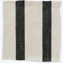 Wide Stripe Linen Black