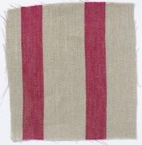 Wide Stripe Linen Crimson