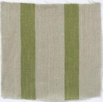 Wide Stripe Linen Fern Green