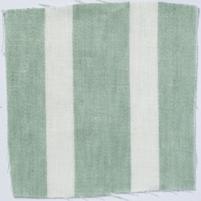 Wide Stripe Linen Sea Green